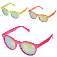 Kids Unisex Round Mirrored Sunglasses
