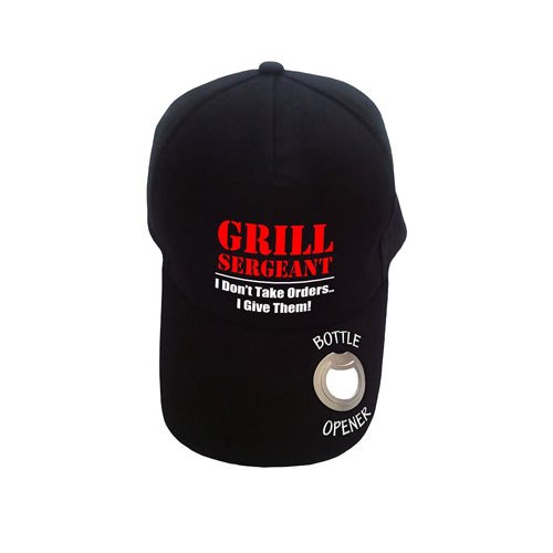 Baseball Cap with Bottle Opener Grill Sergeant