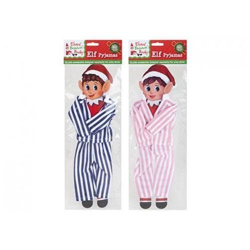 Striped Pyjamas Set For Elves Assorted