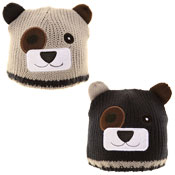 Baby Knitted Bear Ski Hat