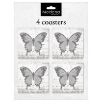 Modena Butterfly Coasters 4 Pack
