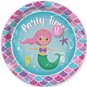 Mermaid Disposable Party Plates