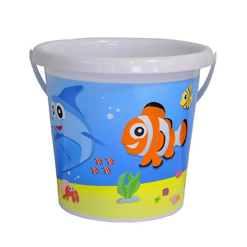 Sea Life Fish Printed Bucket