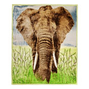 Faux Mink Animal Blanket Elephant