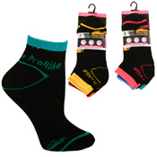 Ladies ProHike Trainer Socks Black Mix Carton Price