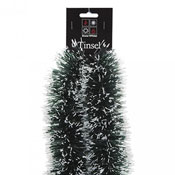 Christmas Green Snow Tipped Tinsel 3m