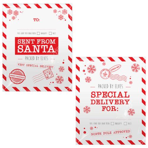 Christmas Printed Santa Sacks 2 Pack