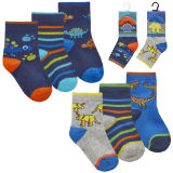Baby Boys 3 Pack Dinosaur Socks