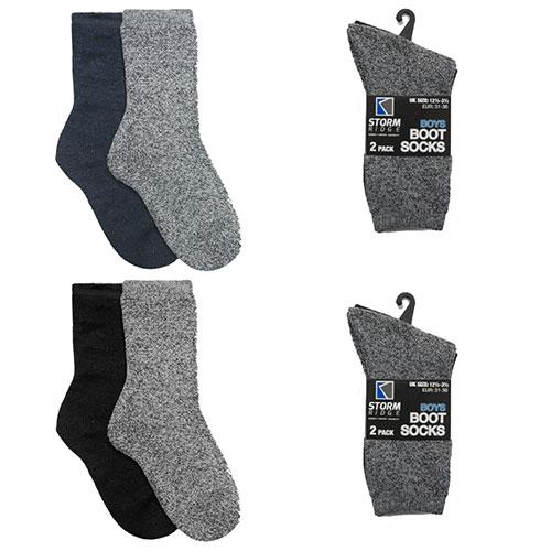 Boys Boot Socks 2 Pack