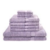 10 Piece Luxury Towel Bale Set With Ribbon Lilac