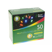 50 Multi-Coloured Solar LED String Lights