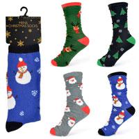 Mens Cotton Rich Christmas Socks