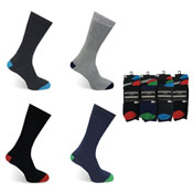 Mens Authentic Computer Socks Plain Heal & Toe