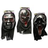 Halloween Metallic Hooded Mask