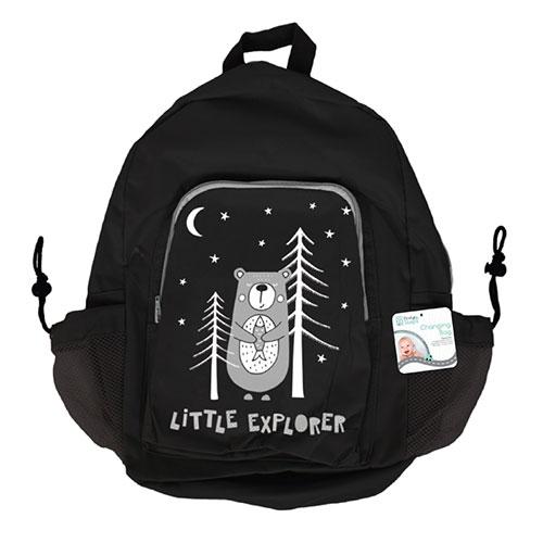 Baby Little Explorer Bear Design Shoulder Changing Bag & Mat