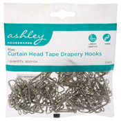 Curtain Hook Tape Drapery Hooks 80 Pieces