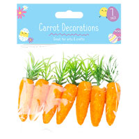 Easter Bonnet Carrot Decorations 7 Pack