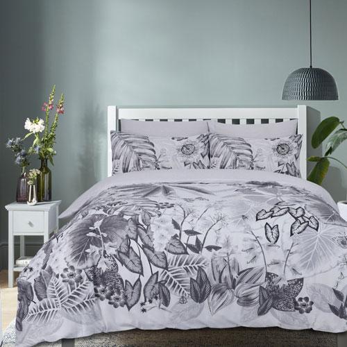 Botanical Tropics Grey Reversible Duvet Set
