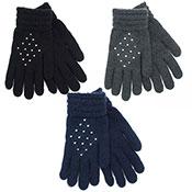 Ladies Gloves With Diamante