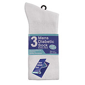 Mens Cotton Diabetic Sock White
