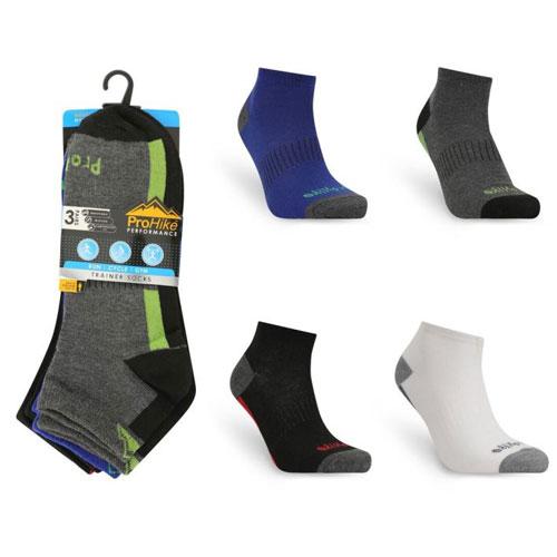 Mens Broad Stripe ProHike Trainer Socks