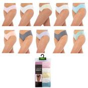 Ladies Lace Front High Leg Briefs 5 Pack