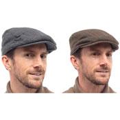Mens Colour Line Flat Cap