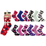 Ladies 1 Pack Co-Zees Cozy Winter Sock Dark