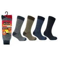 Mens Heat Machine Thermal Socks Twisted Yarn