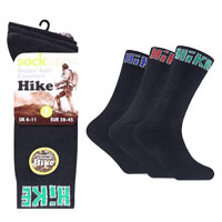 Mens Socksation Hike Socks Black