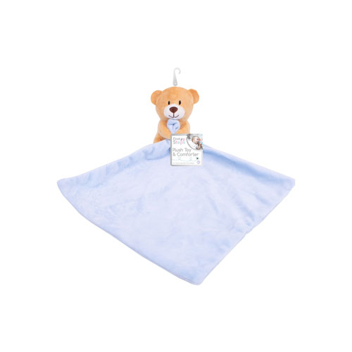 First Steps Baby Comforter with Plush Toy Blue
