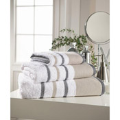 Egyptian Cotton Bath Towel White Stripe