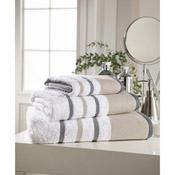 Egyptian Cotton Bath Towel White Stripe