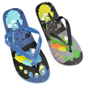 Mens Feet Imprint Flip Flop
