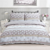 Patchwork Floral Natural Duvet Set