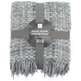 Luxury Chenille Woven Throw Grey
