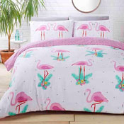 Studio Art Flamingo Duvet Set Reversible