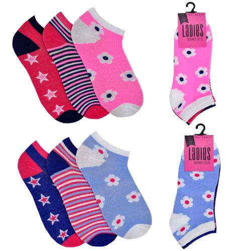 Ladies Trainer Socks Mixed Designs