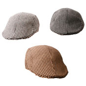 Houndstooth Unisex Flat Cap Assorted Colours
