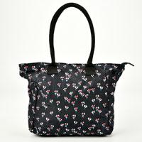 Navy Flower Tote Bag