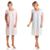 Ladies Short Sleeve Night Dress Seapearls