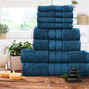 Luxurious 8 Piece Towel Bale Set Teal