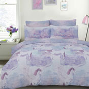 Pegasus Unicorn Lilac Reversible Duvet Set