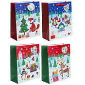 Medium Christmas Contemporary Design Gift Bags