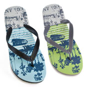 Mens Palm Tree Flip Flop