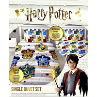 Official Harry Potter Reversible Single Duvet Set 'Quarters'