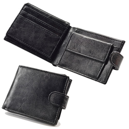 Mens PU Wallet With Coin Pocket & Photo Sleeve
