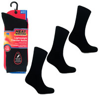 Mens Heat Machine 1.6 Tog Thermal Socks Black