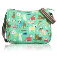 Mixed Dog Print Multi Purpose Bag Green