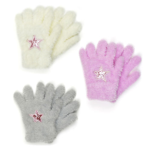 Girls Soft Gloves With Motif